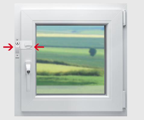 Anwendungsdarstellung Fenstersicherung schwenkbar