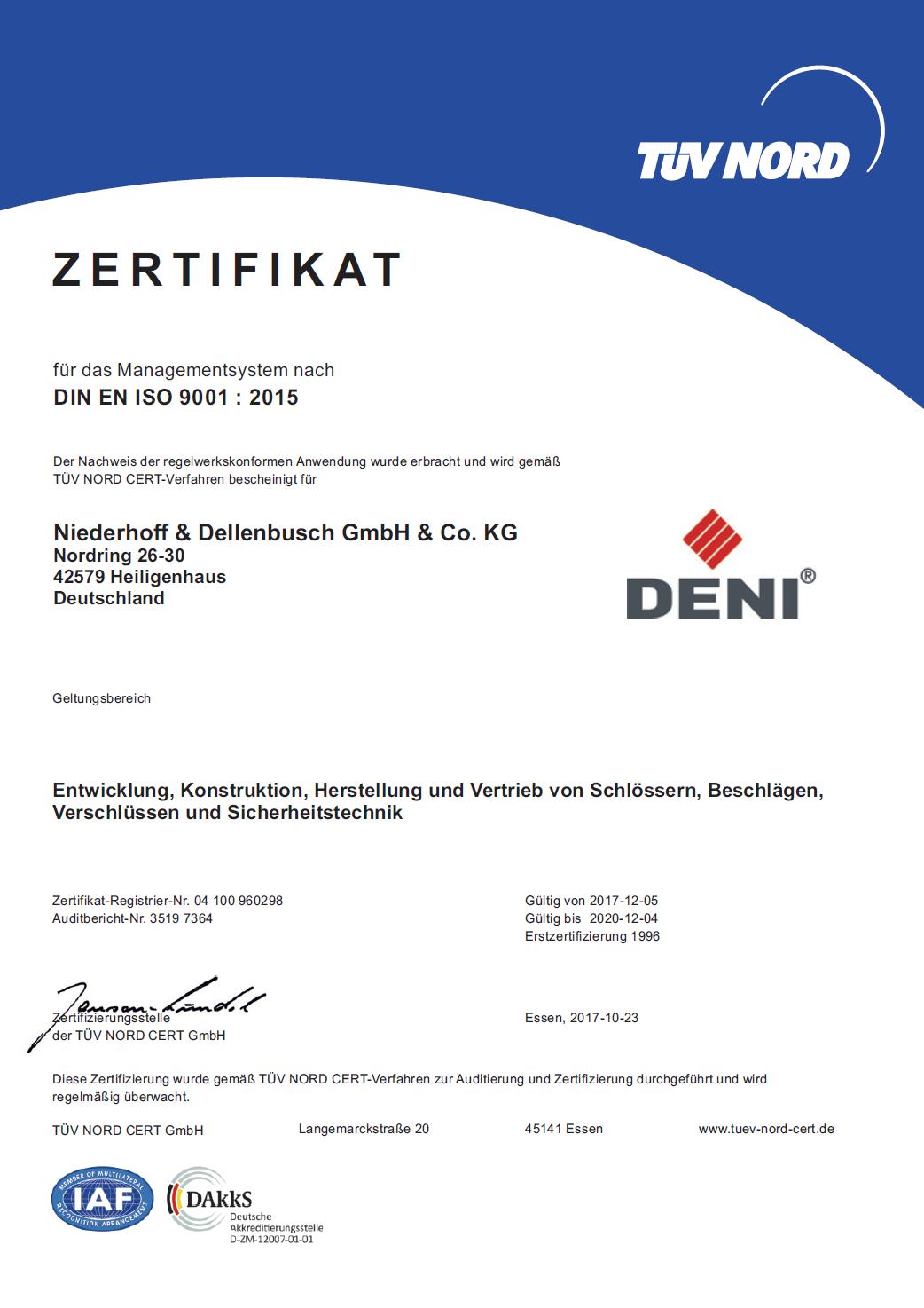 DENI QM-Zertifikat 2017 DE Thumbnail