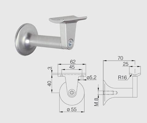 Geländerstuetze DENI Serie 5210 Details